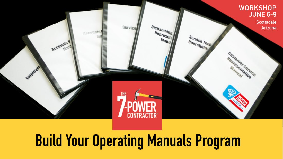 Build Your Own Operating Manuals Program - Workshop June 6-9 in Scottsdale, Arizona