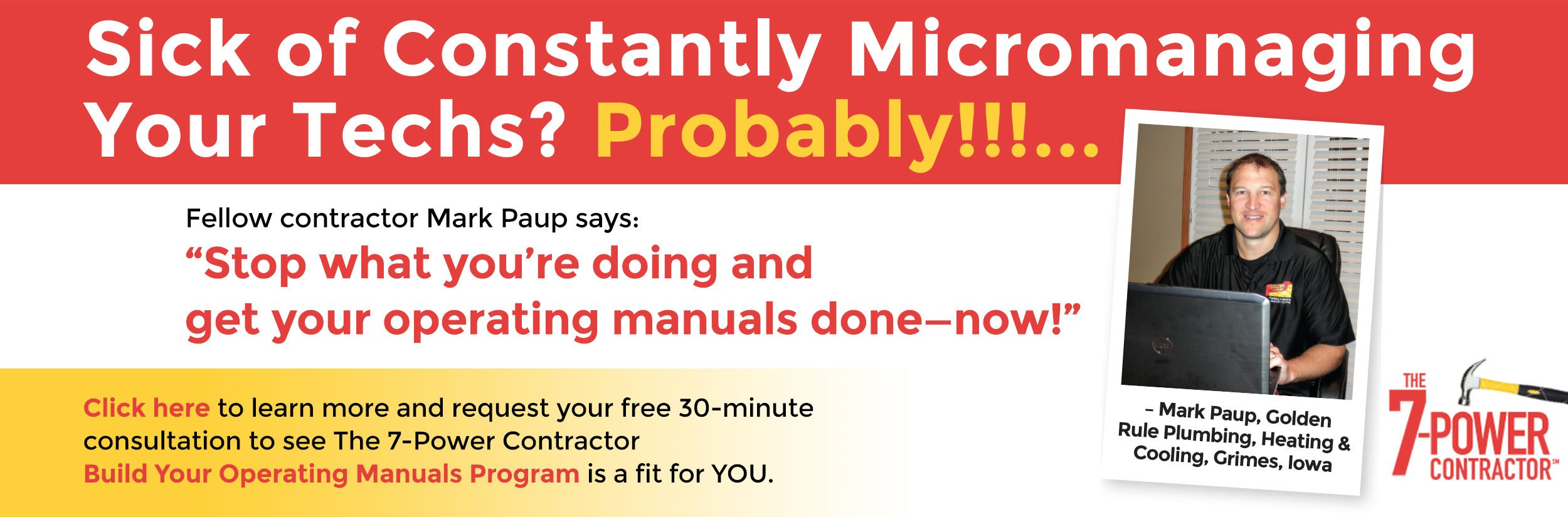 Stop what you're doing and get your operating manuals done - now!